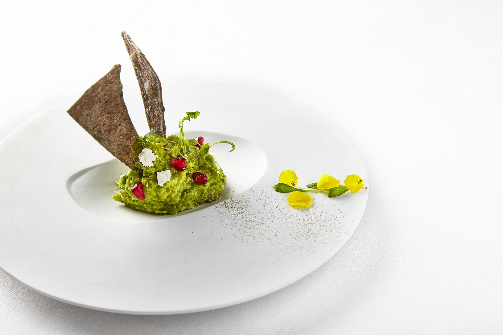 A guacamole dish at Martha Ortiz's Ella Canta