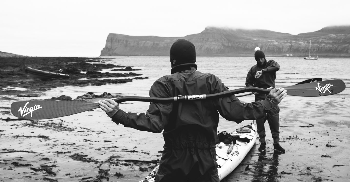 Adventurer Olly Hicks with companion George Bullard
