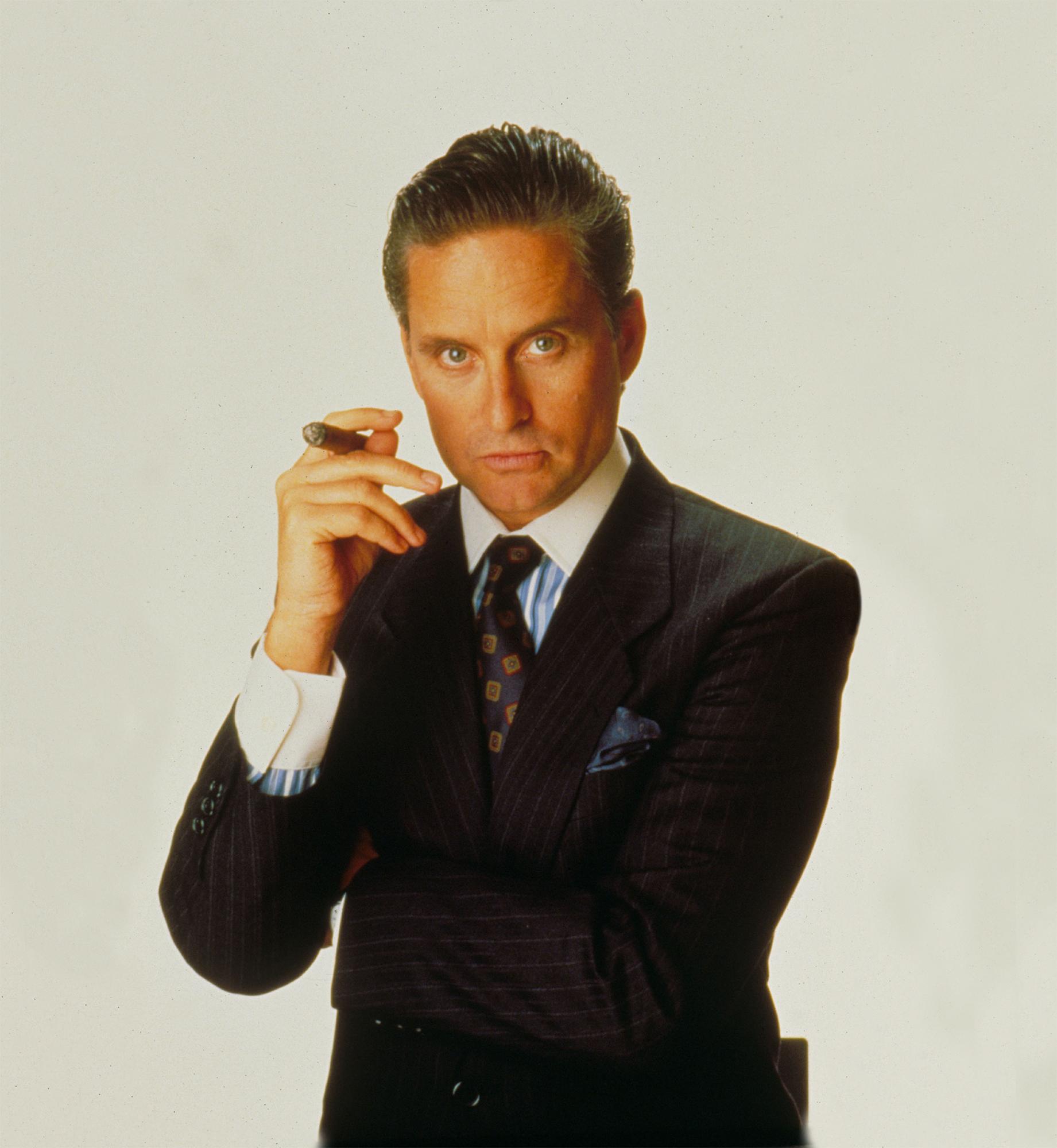 Michael Douglas as Gordon Gekko in Wall Street. Photo by Moviestore/REX/Shutterstock