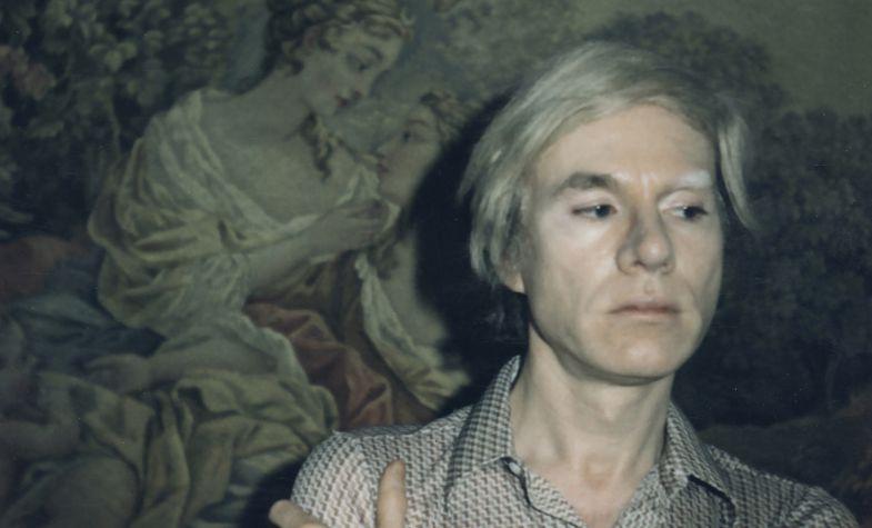 Andy Warhol wearing the Cartier Tank watch