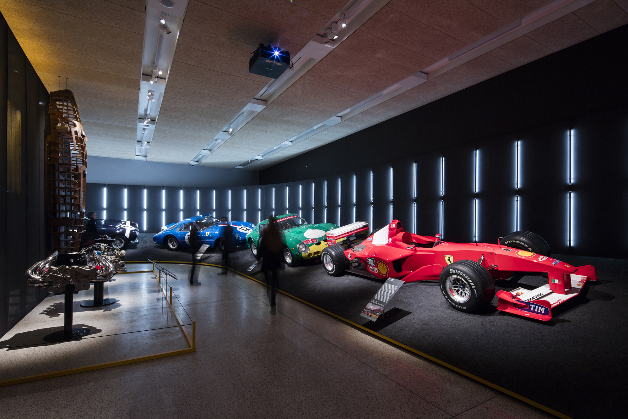 Ferrari Exhbition at the Design Museum. Photograph: Luke Hayes