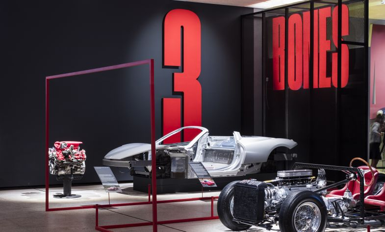 Ferrari Under The Skin Exhibition at the Design Museum. Photograph: Luke Hayes
