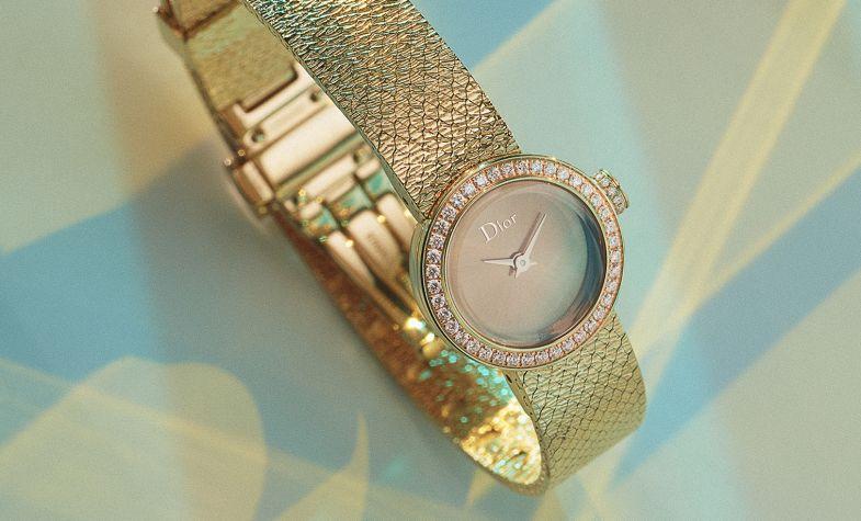 Dior La Mini D De Dior Satine in pink gold and diamonds, £22,000, DIOR