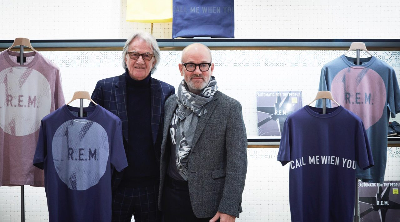 Paul Smith and Michael Stipe