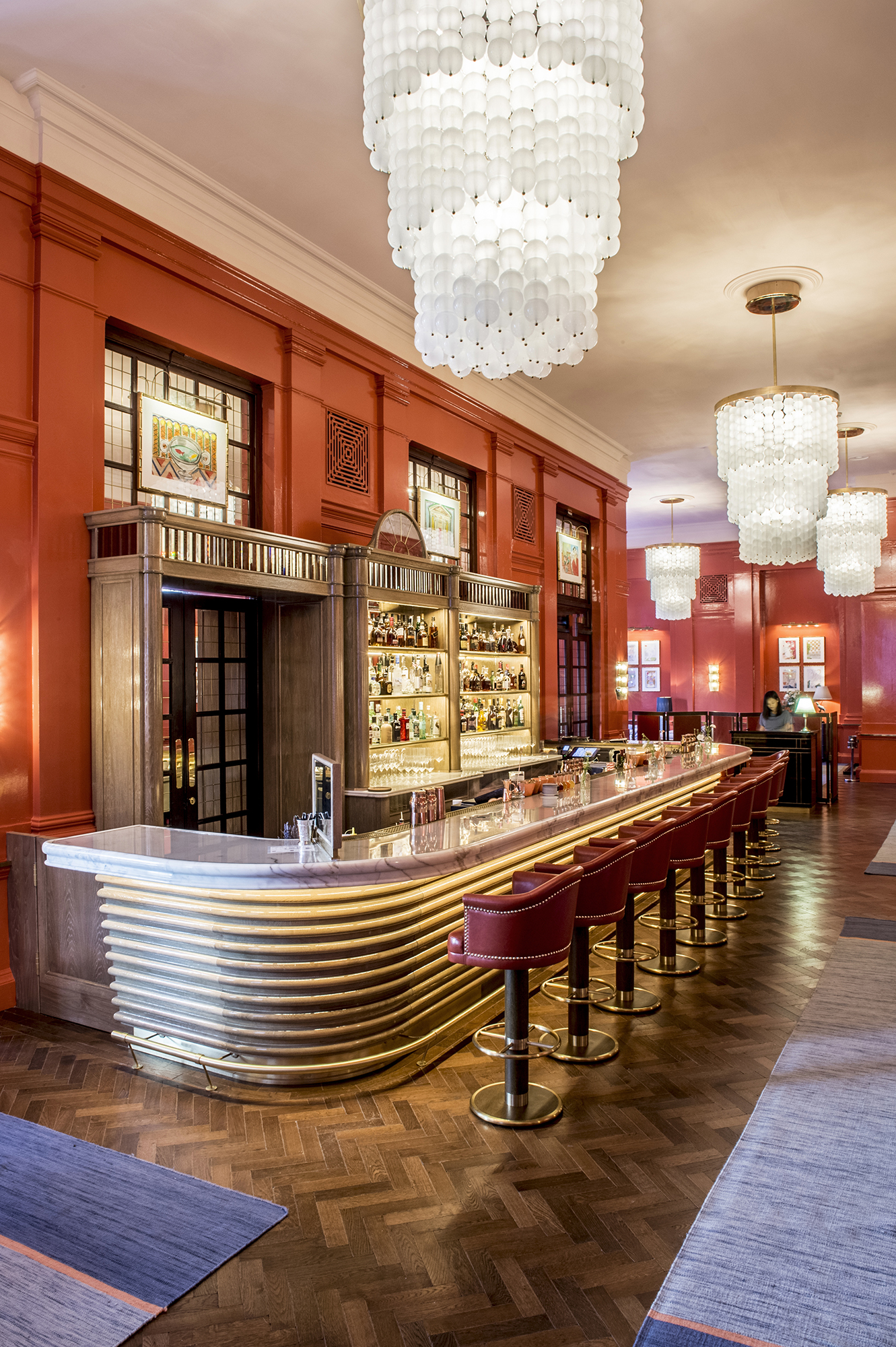 Cocktails and opulence at The Coral Room at The Bloomsbury Hotel