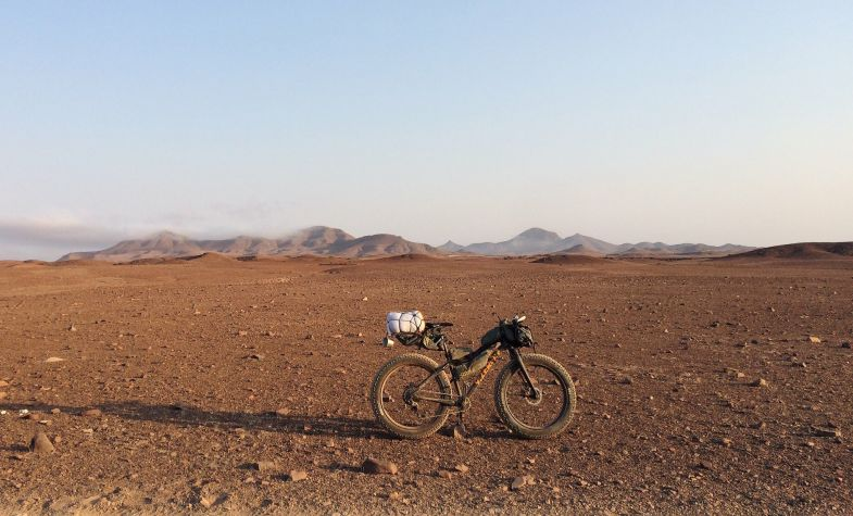 Fatbiking in Namibia, 2016