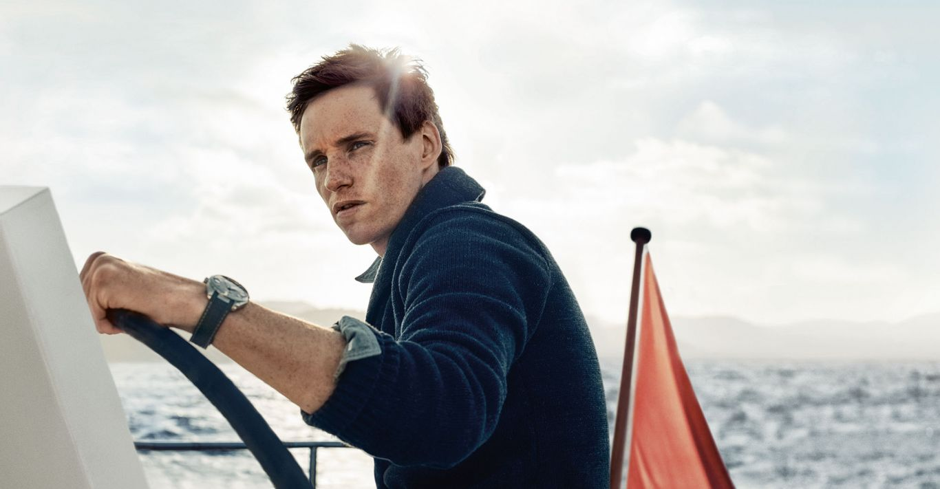 Eddie Redmayne sporting the updated Omega Seamaster Aqua Terra