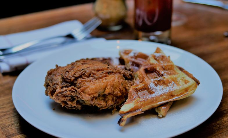 Fried Chicken and Waffles - Merchants Tavern