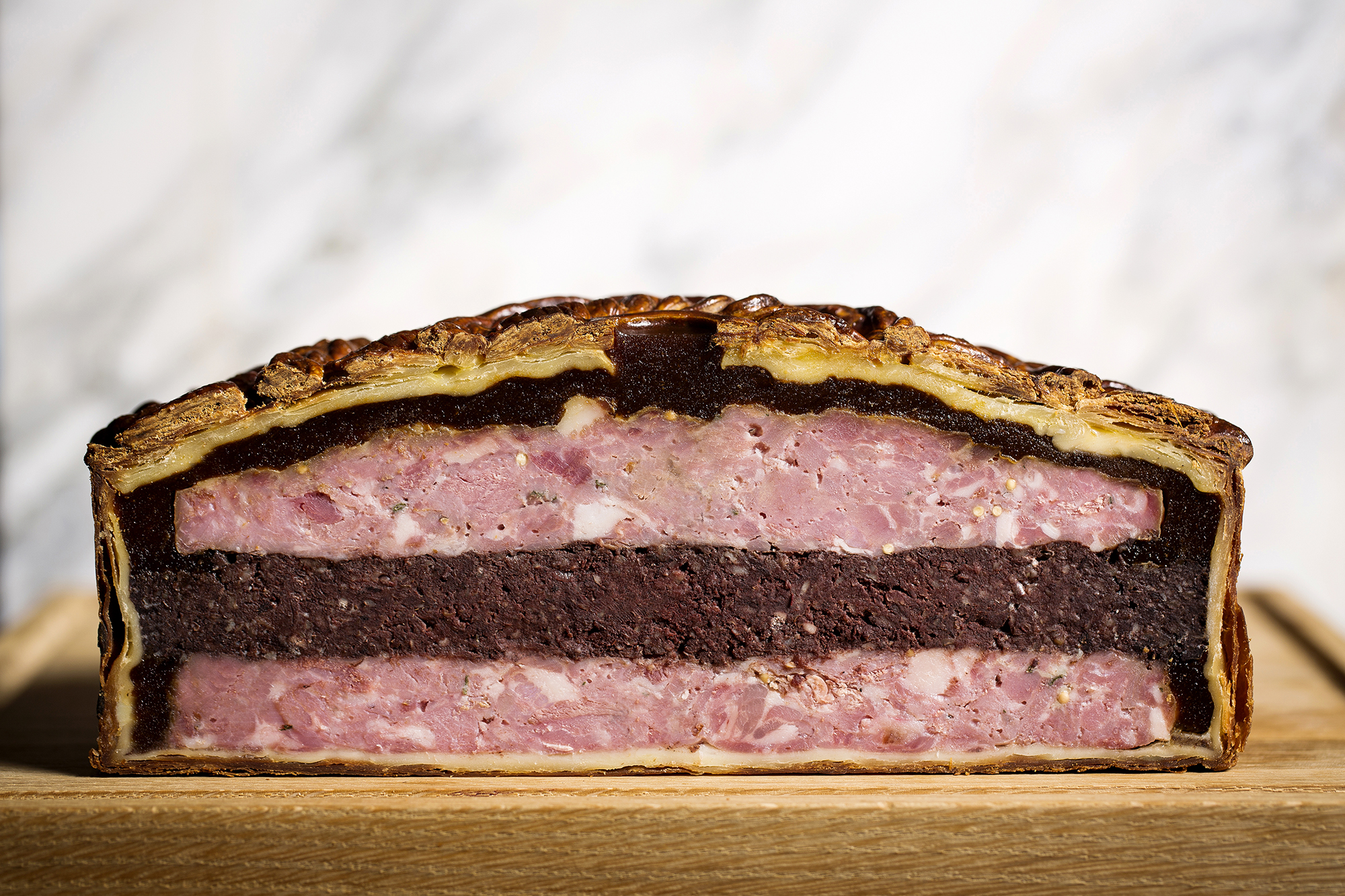 Calum Franklin's black pudding pie