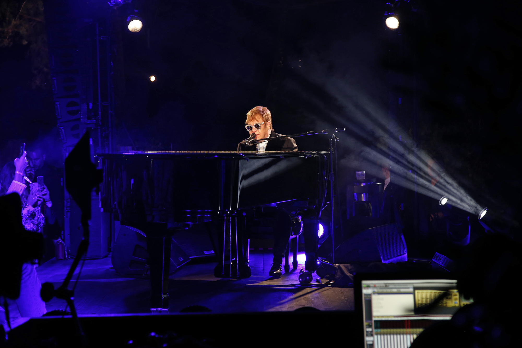 Elton John performs at Gucci's Cruise 2019 show in Arles, France