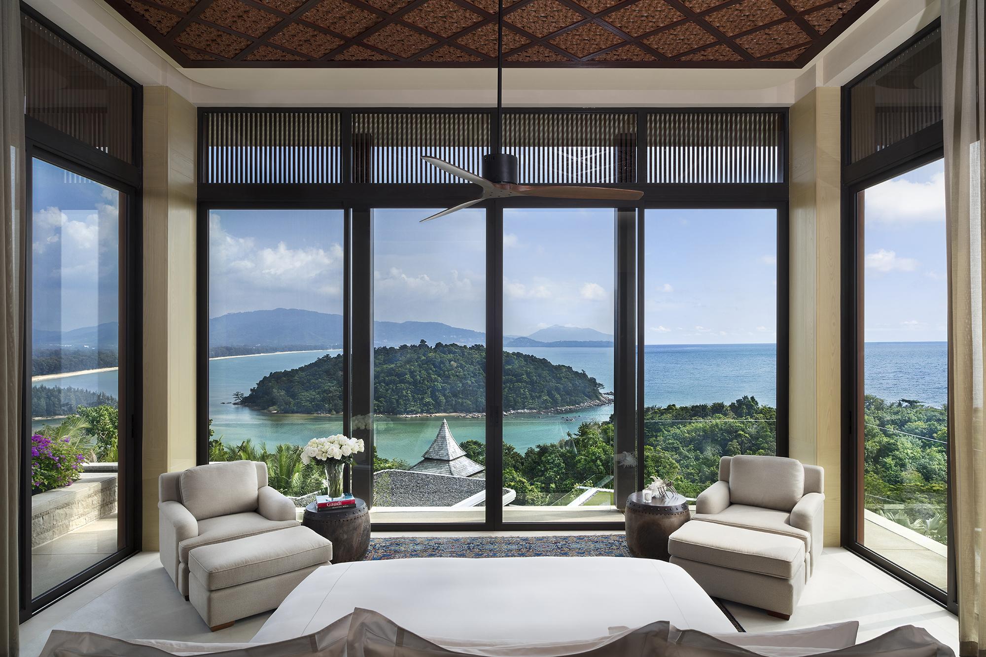 The view from a villa at Anantara Layan Phuket Resort