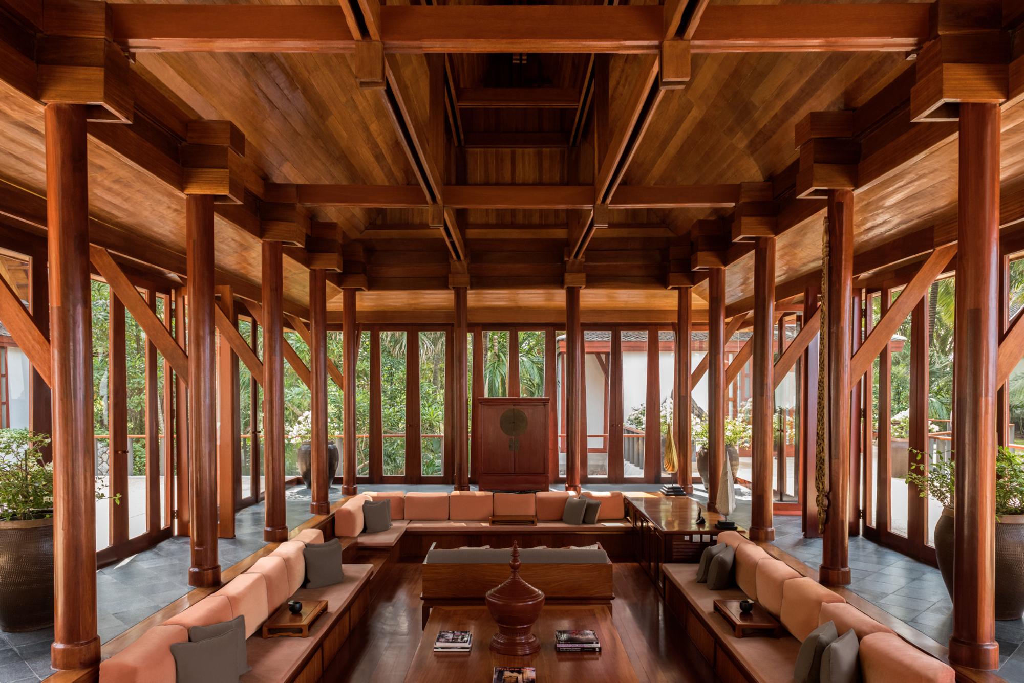 Inside a villa at Amanpuri, Phuket