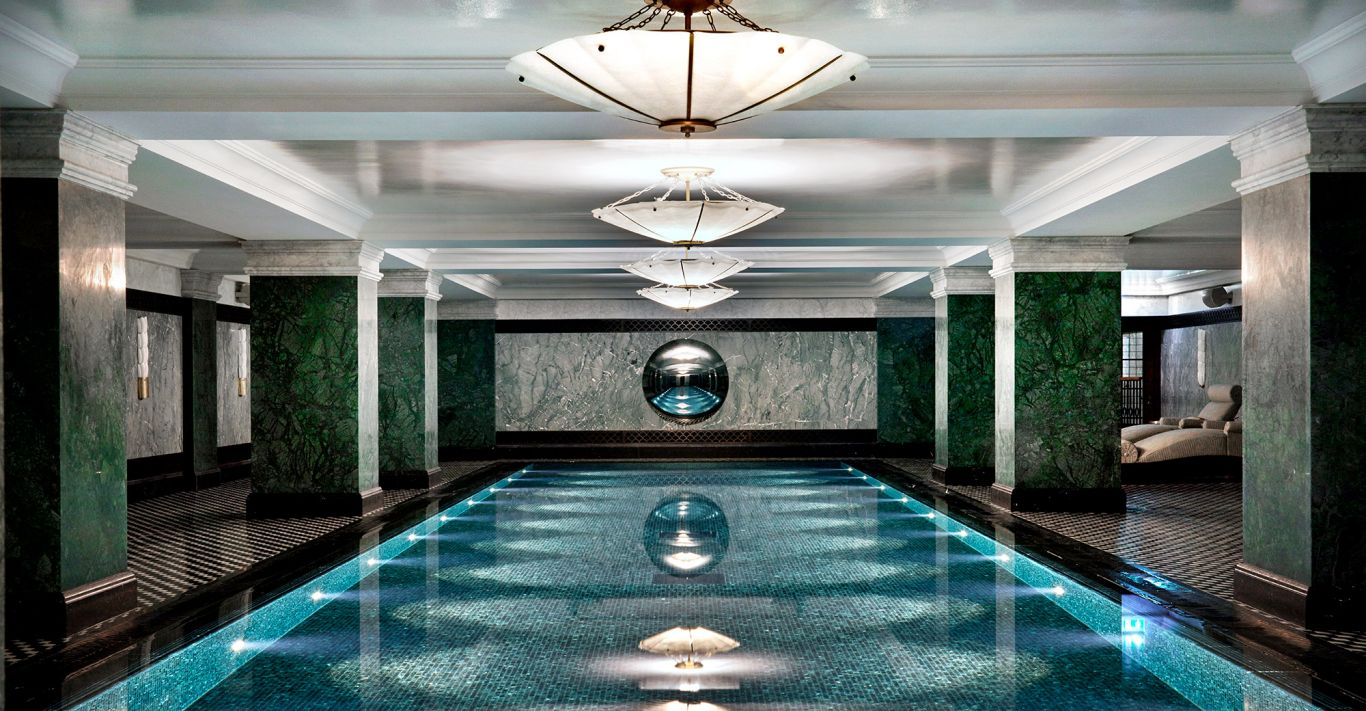 The indoor pool at The Ned