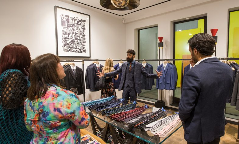 The Brummell Ones to Watch event was held at Paul Smith's Albermarle Street store