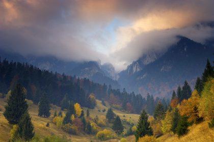 The beautiful landscape of Transylvania, Romania
