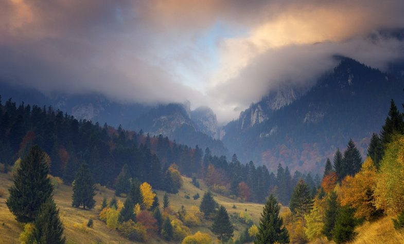 The beautiful landscape of Transylvania, Romania