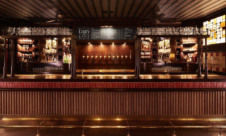 The bar at Brigadiers