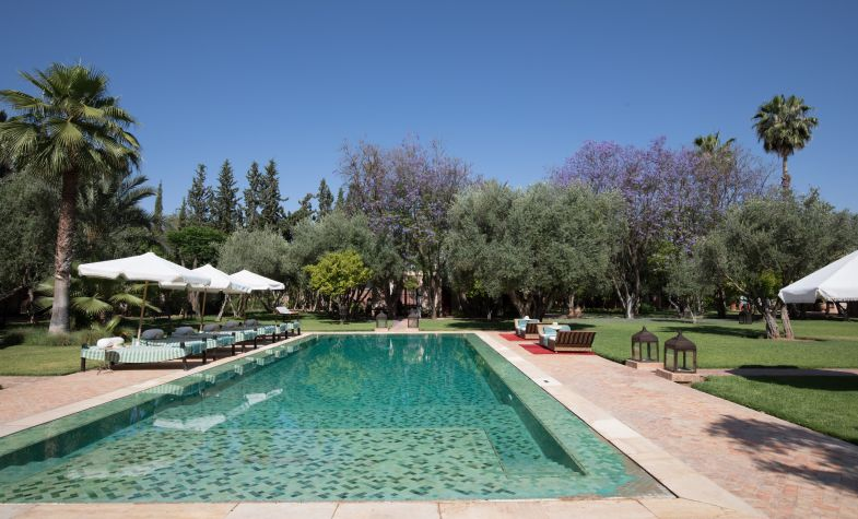 The swimming pool at Villa Ezzahra