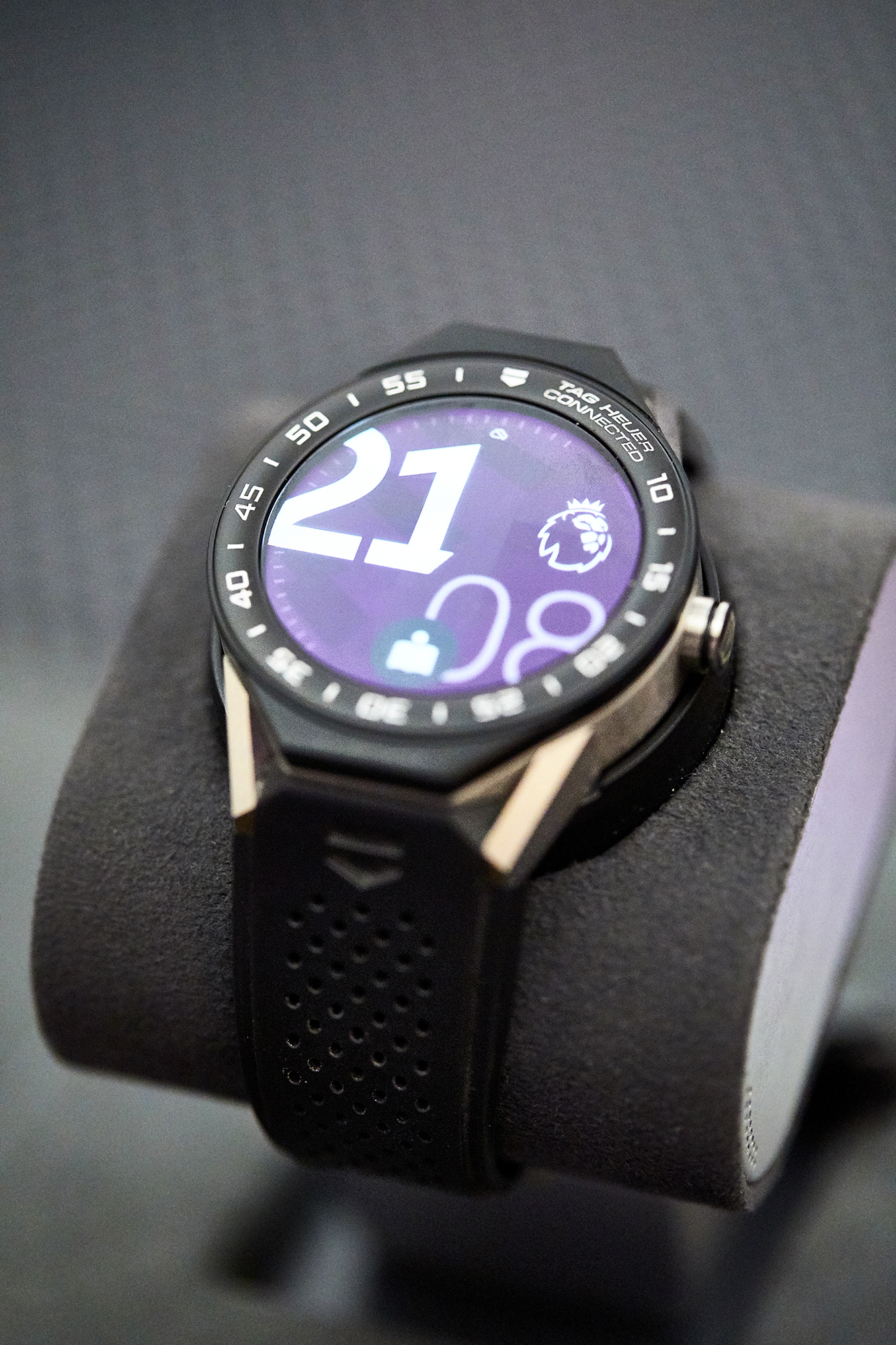 The Tag Heuer Modular smartwatch with Premier League screen