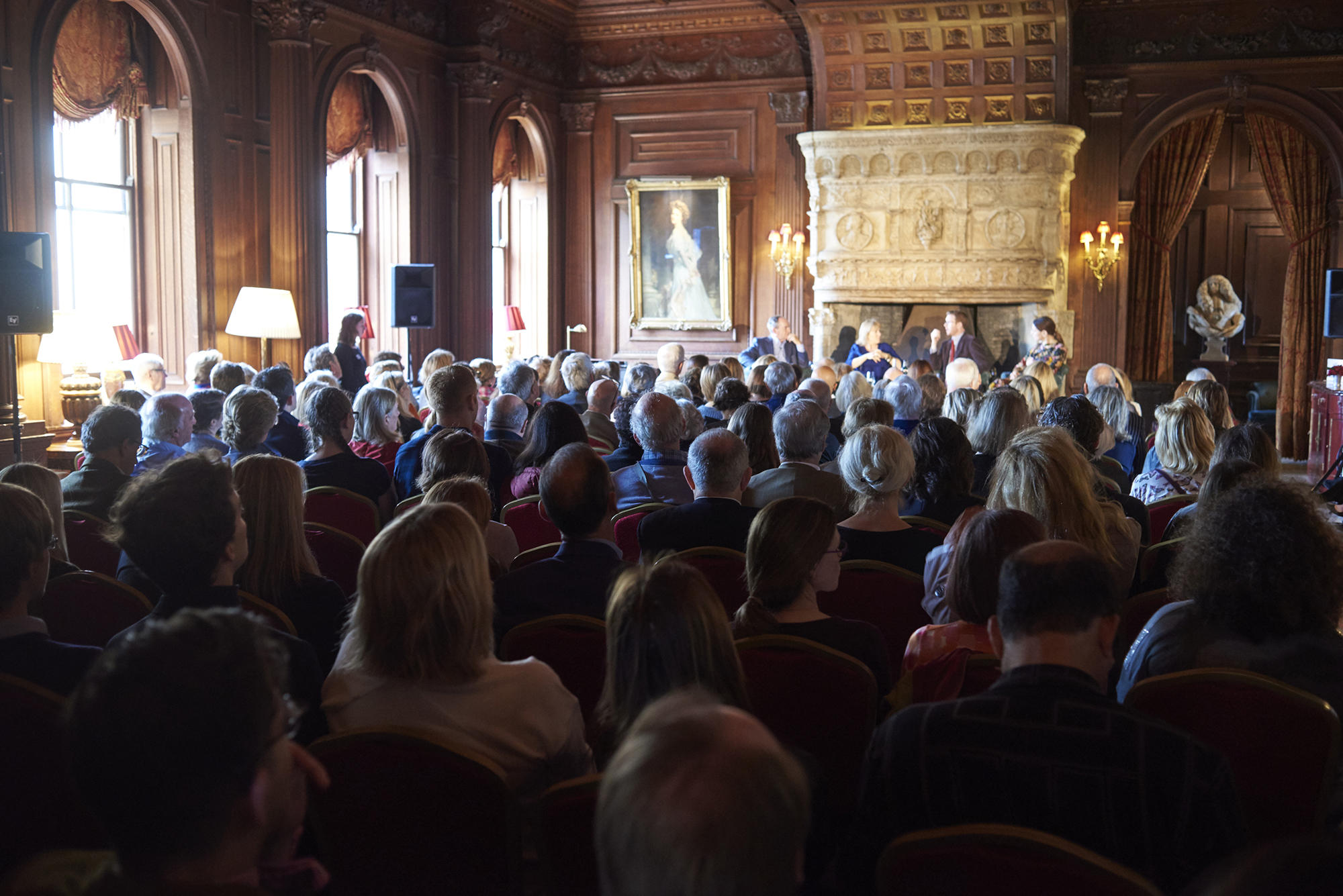 An audience in the Great Hall at the 2017 festival