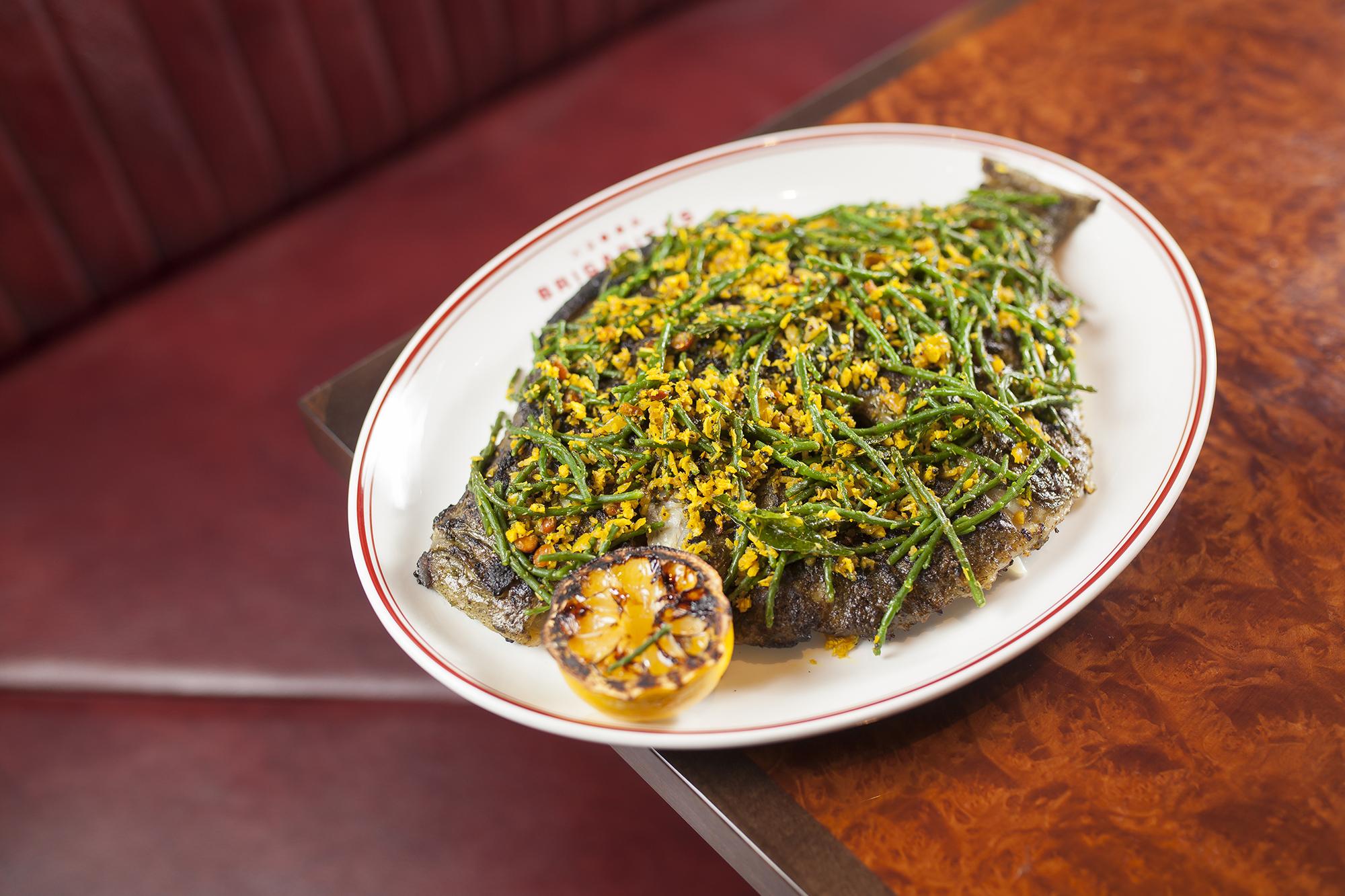 Curry leaf turbot