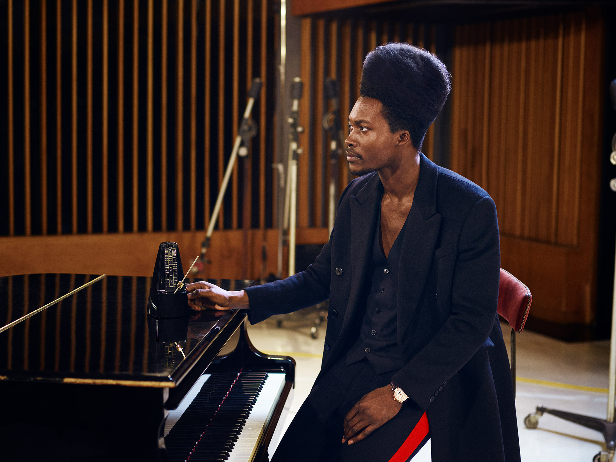 Poet and musician Benjamin Clementine feels the rhythm with the Fiftysix Complete Calendar in gold