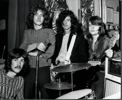Led Zeppelin, 3 March 1969. BBC 'Top Gear' Playhouse Theatre, London UK, Jimmy Page Collection