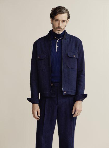 King & Tuckfield has collaborated with model Richard Biedul