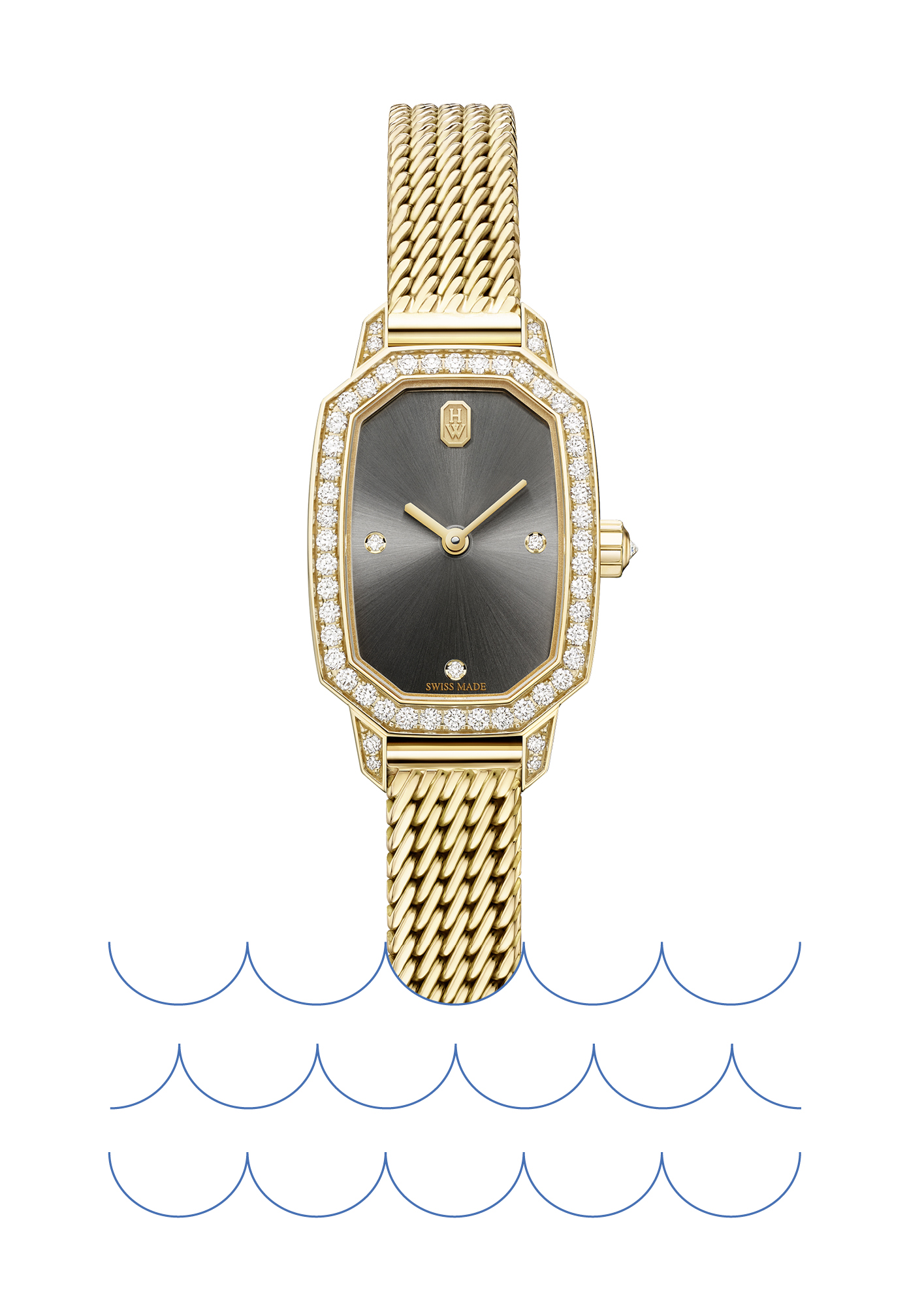 Emerald Collection watch in 18ct yellow gold