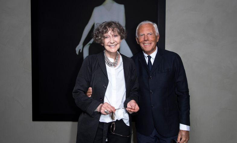 Sarah Moon with Giorgio Armani