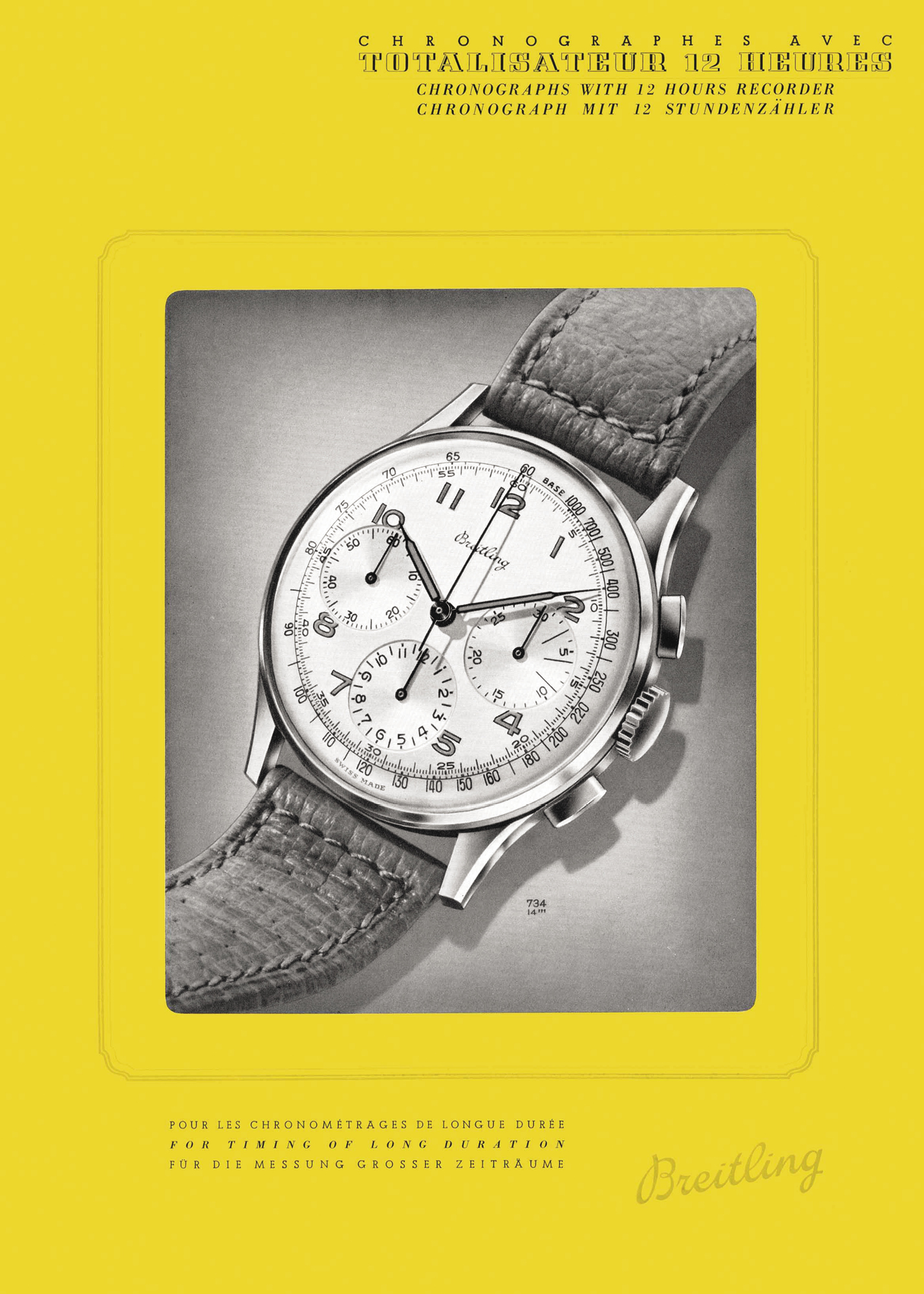 A Breitling Premier ad from the 1940s
