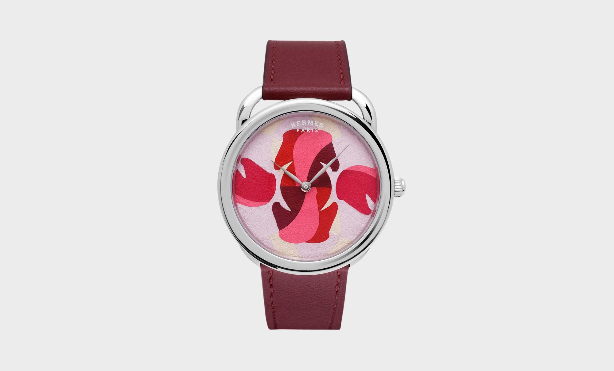 Arceau watch in Hermès red