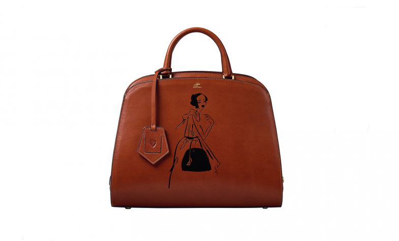Giles x Aspinal Hepburn Bag in Smooth Tan