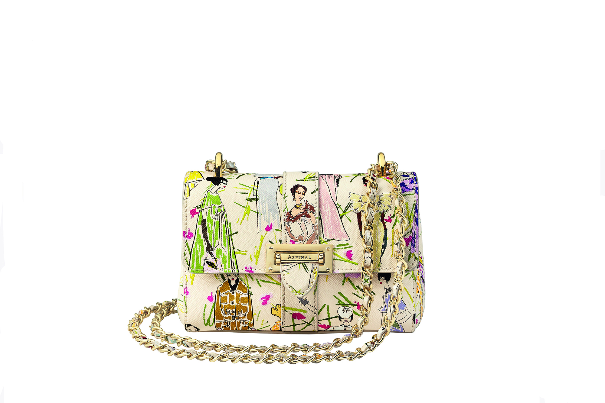 Giles x Aspinal Micro Lottie Bag in Girls Print
