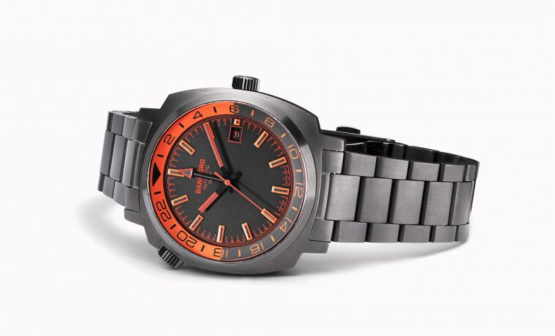 Bamford GMT watch in grey and orange