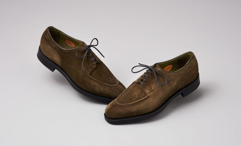 Edward Green Dover shoes in army green suede, £1,165; edwardgreen.com