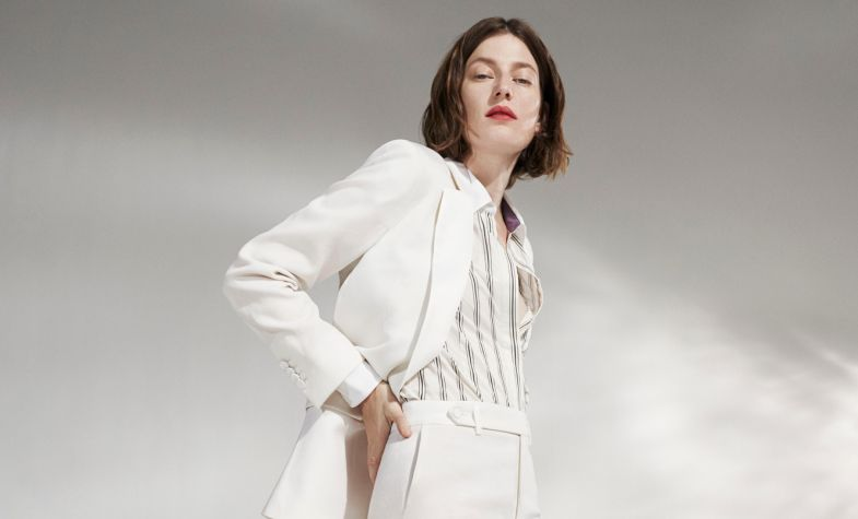 Paul Smith's new capsule collection comprises classic tuxedos for women