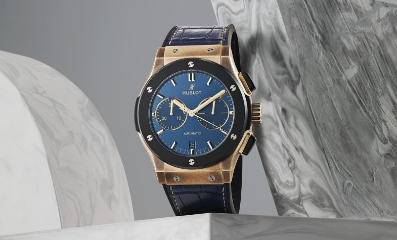 Bucherer Blue Editions - Fusion 45mm bronze automatic, £15,000, HUBLOT