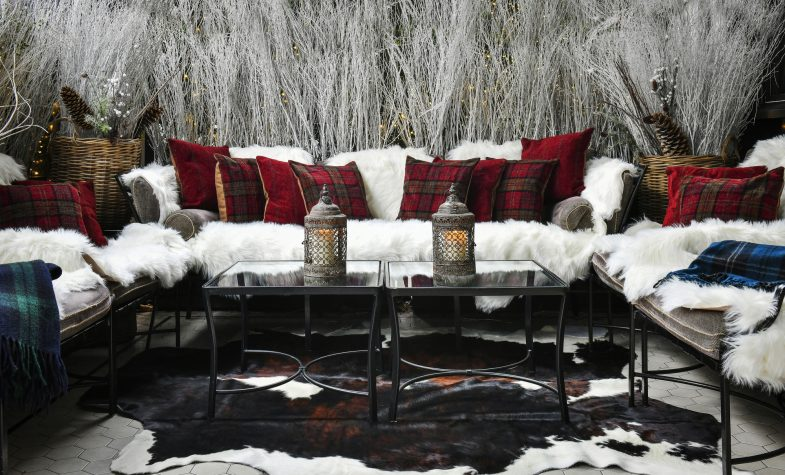 The cosy and elegant Winter Terrace at Churchill Bar & Terrace