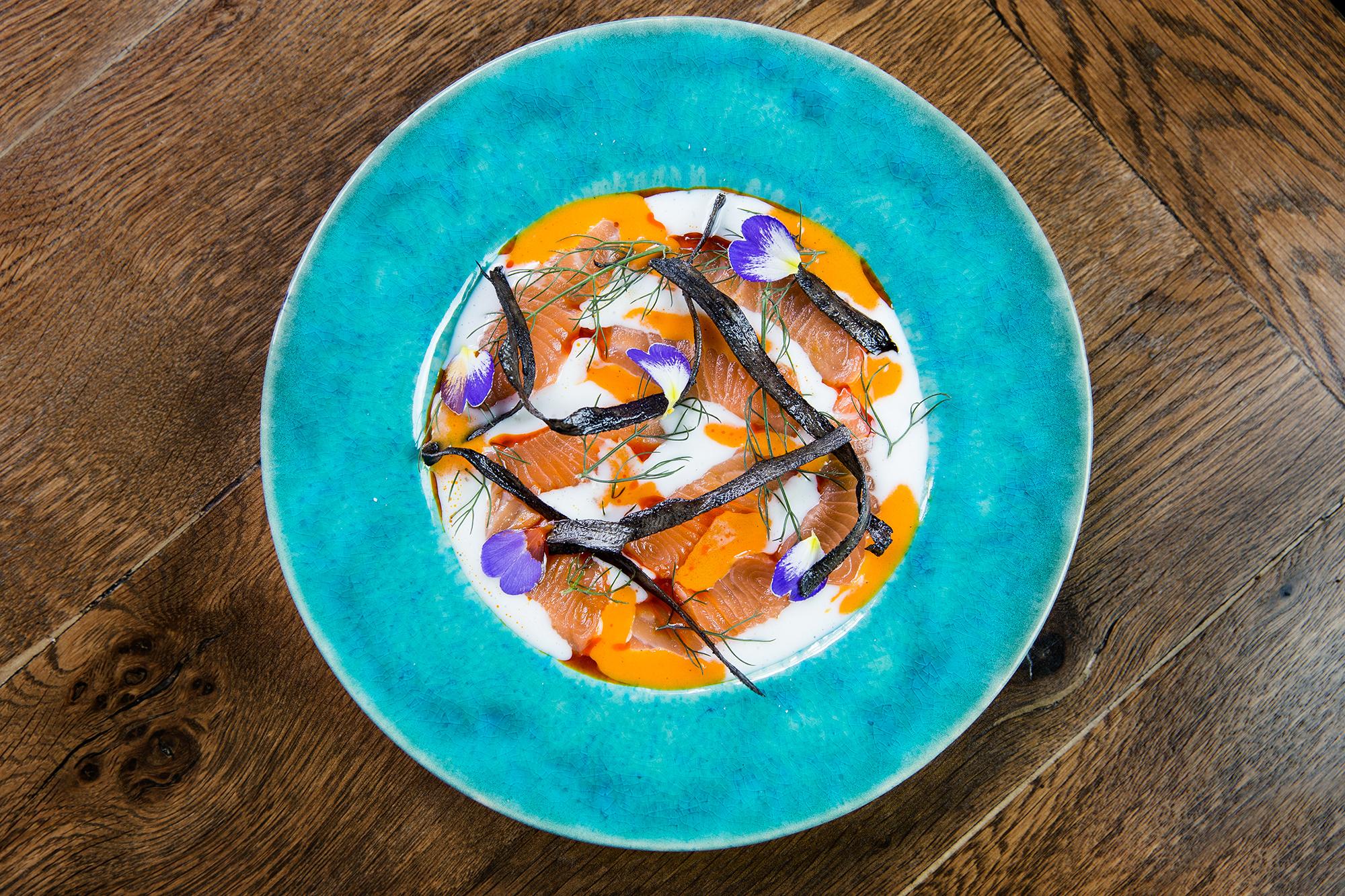 Salmon tiradito, Lima London
