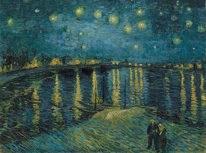 Vincent van Gogh (1853 – 1890), Starry Night Over the Rhone, 1888, oil paint on canvas, 725 x 920 mm, Paris, Musée d'Orsay. Photo (C) RMN-Grand Palais (musée d'Orsay) / Hervé Lewandowski
