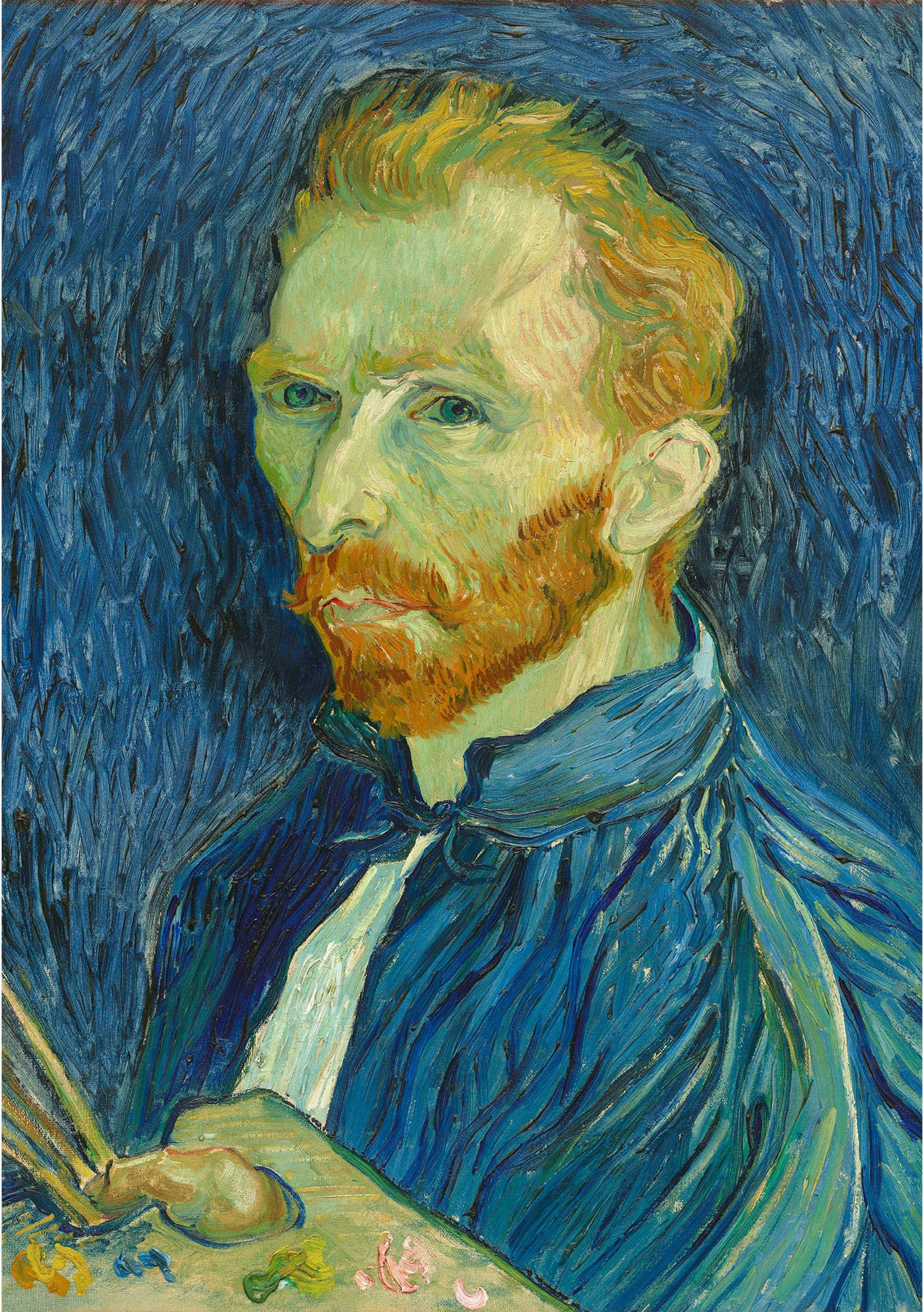 Vincent van Gogh (1853 – 1890), Self-Portrait, 1889, oil paint on canvas, 572mm x 438mm, National Gallery of Art, Collection of Mr. and Mrs. John Hay Whitney