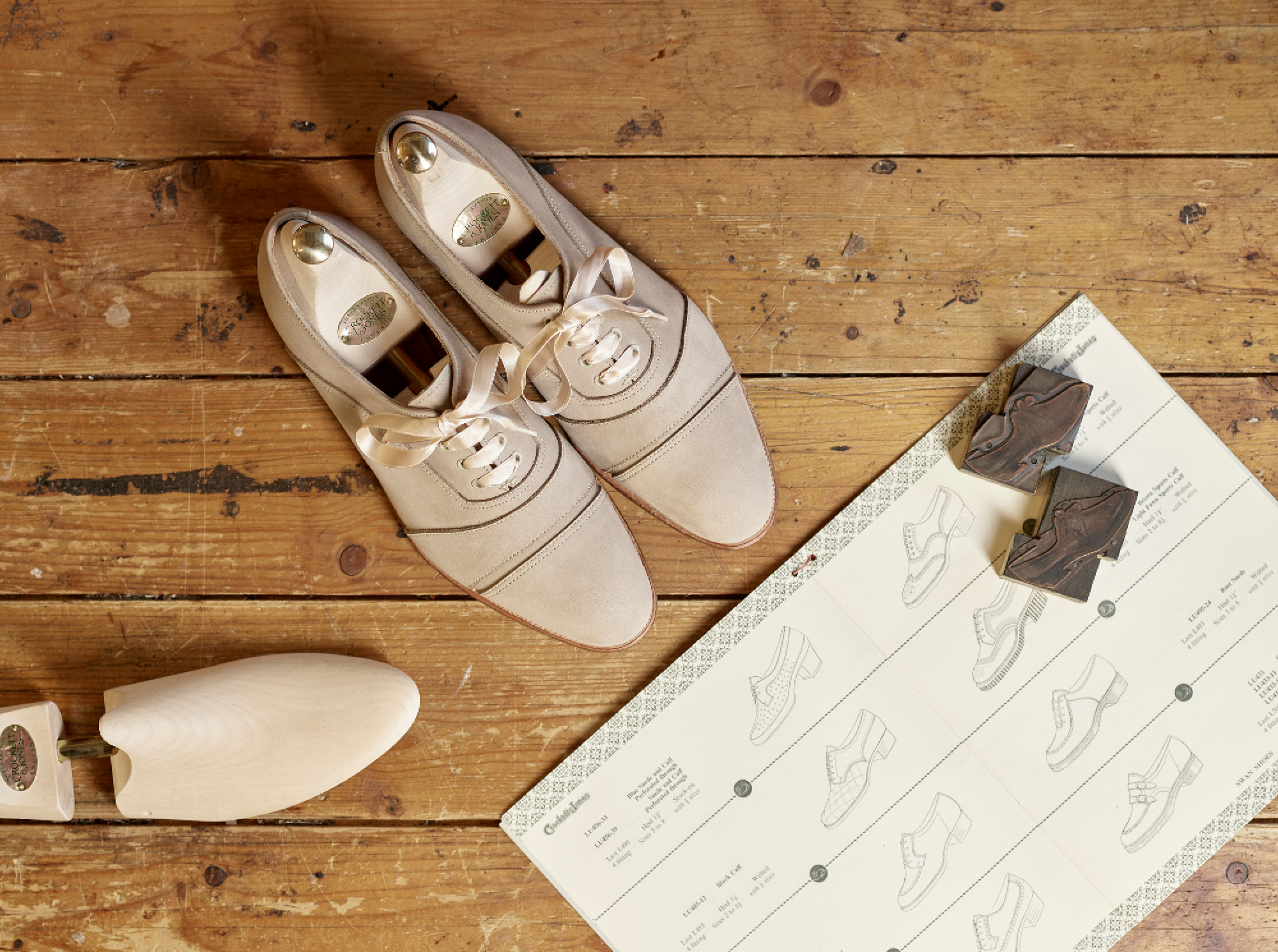 Clare Jones designs women's shoes for Crockett & Jones