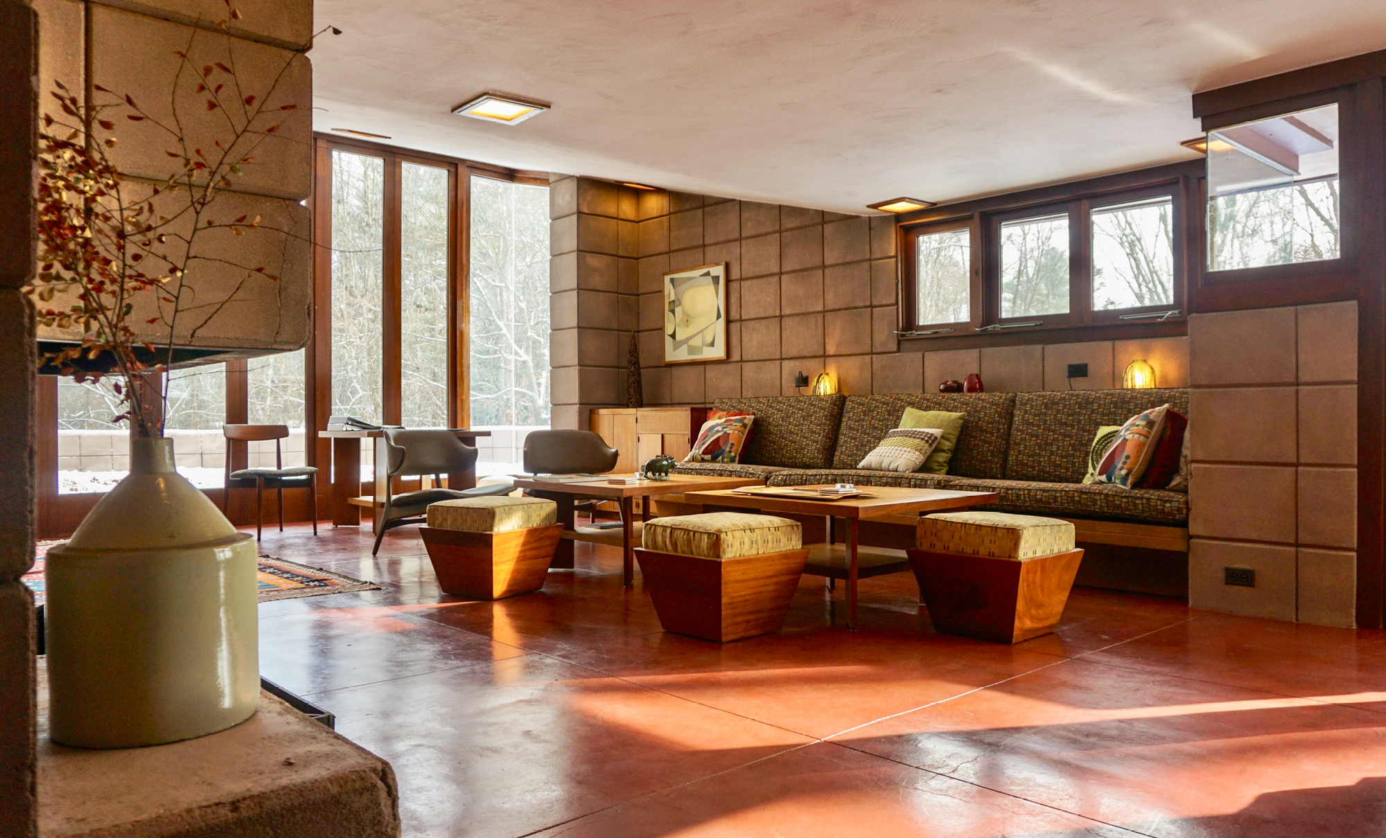 Eppstein House by Frank Lloyd Wright in Galesburg, Michigan, USA
