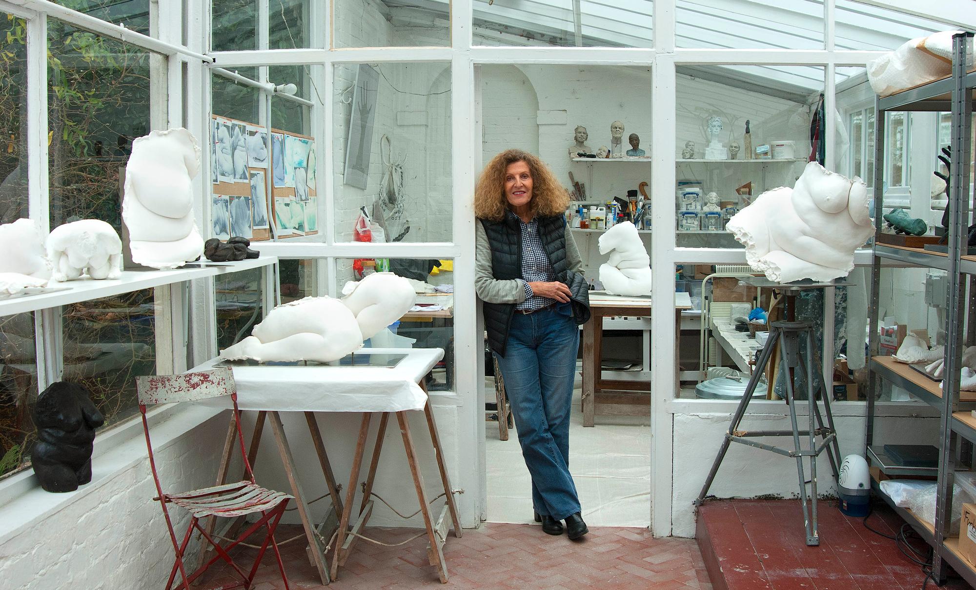 Nicole Farhi in her studio