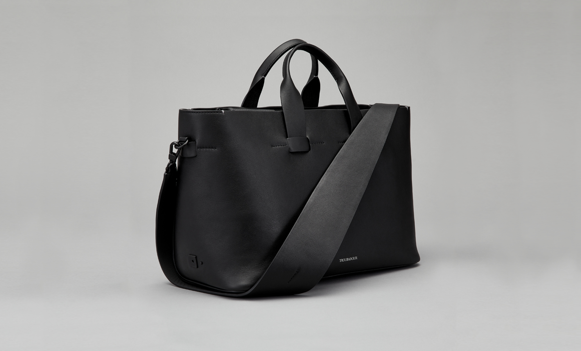 Troubadour women's collection Zola shoulder bag in black, £535