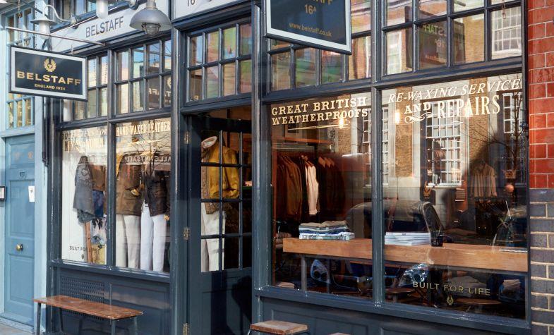 Belstaff's new Spitalfields store