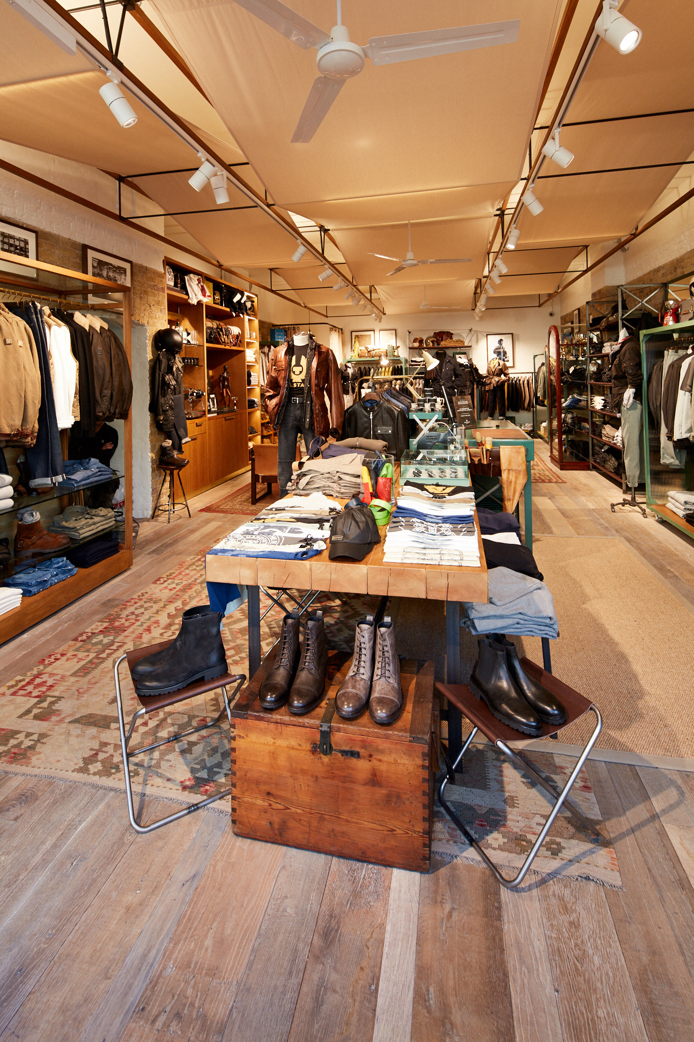 Belstaff's Spitalfields concept has been designed to bring people together