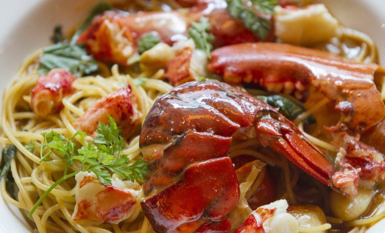 Lobster spaghetti at Balthazr