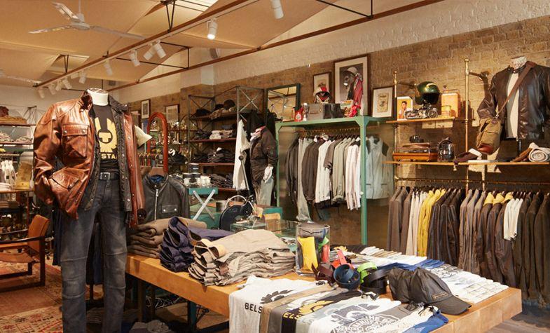 Belstaff's newly rebooted Spitalfields store